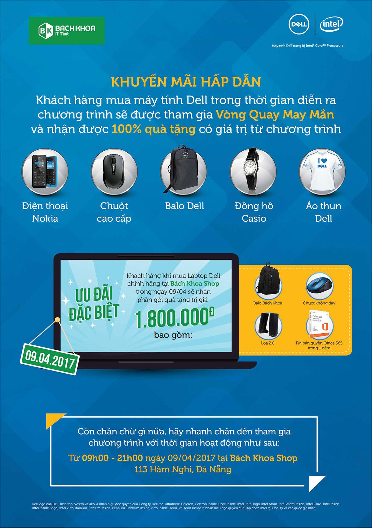 Ngày hội người tiêu dùng máy tính Dell tại Đà Nẵng