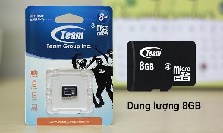 Thẻ nhớ MicroSD Team Class 4 - dung lượng vừa đủ dùng
