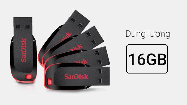 USB SanDisk SDCZ50/50E 16gb - Kết nối nhanh chóng